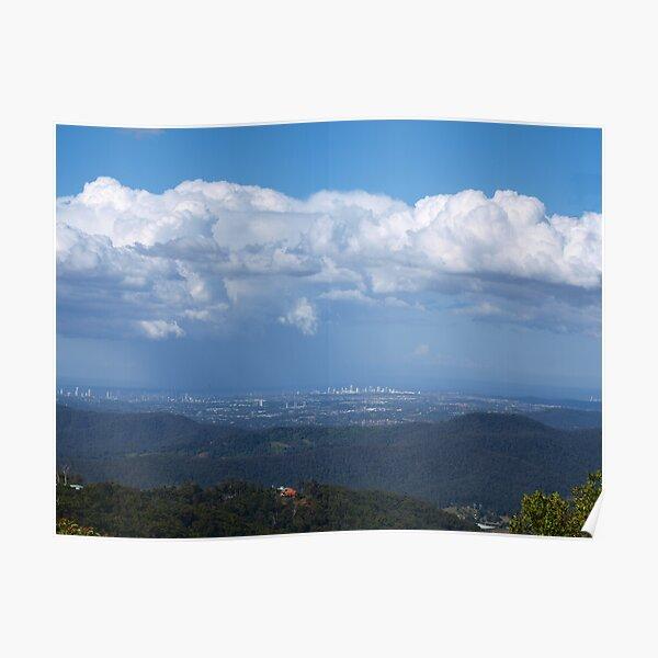Gold Coast from Mt Tamborine  Poster