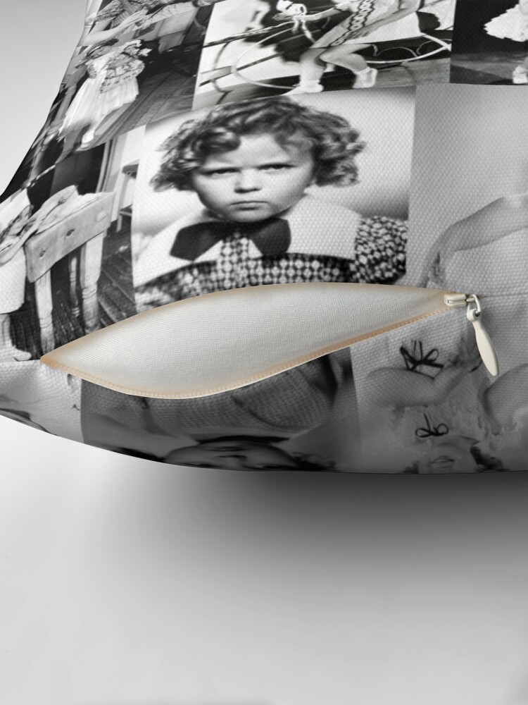 Alternate view of Shirley Temple Collage Throw Pillow