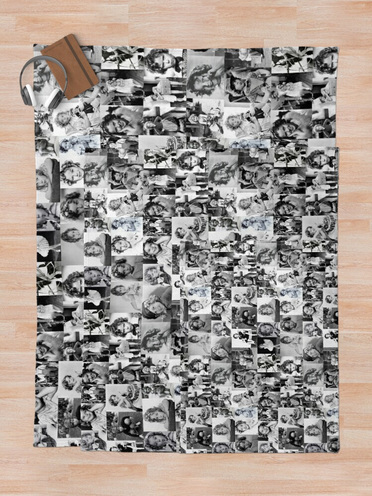 Alternate view of Shirley Temple Collage Throw Blanket