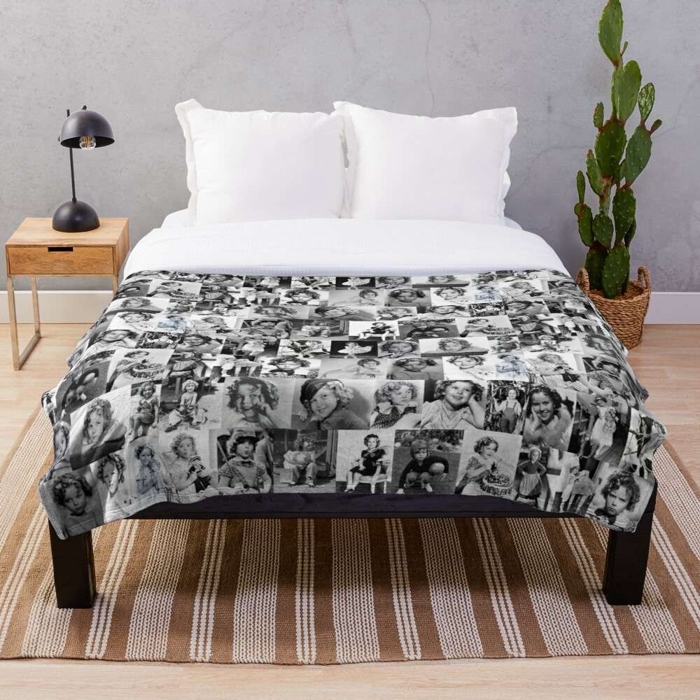 Shirley Temple Collage Throw Blanket