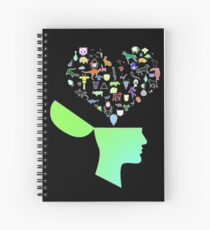 Head & Mind filled with Animal thoughts Spiral Notebook