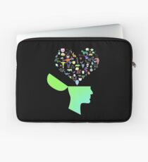 Head & Mind filled with Animal thoughts Laptop Sleeve