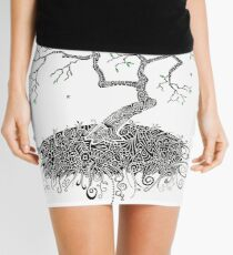 A Doodle Planted Mini Skirt
