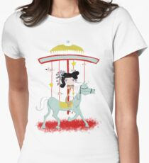 Carousel colorful whimsical magic horse ride doll tshirt T-Shirt
