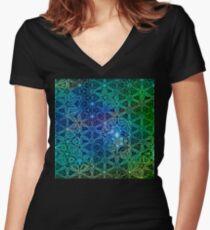 Vernal Metamorphosis 8 Women's Fitted V-Neck T-Shirt