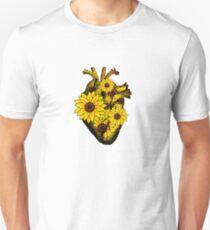 Summer Sunflower Heart  Unisex T-Shirt