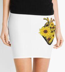 Summer Sunflower Heart  Mini Skirt