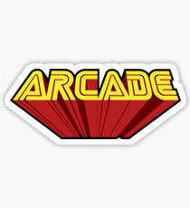 ARCADE VIDEO GAMES - Phone Case, Shirts, Hoods & Stickers Sticker