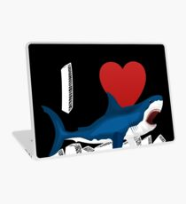 I Love The Week Of Sharks Cute Novelty Gift Idea For Shark Lovers Graphic Shark Attack Laptop Skin