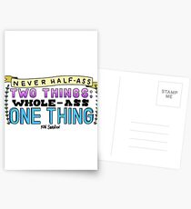 Ron Swanson Parks and Recreation Quote Postcards