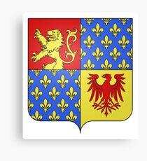 French France Coat of Arms 15260 Blason de la ville de Kanfen Moselle Canvas Print