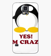 yes, I am Mad Crazy Penguin Animal Nerd gift t-shirt  Case/Skin for Samsung Galaxy