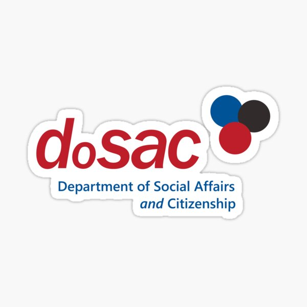 Department of Social Affairs and Citizenship (DOSAC) Sticker