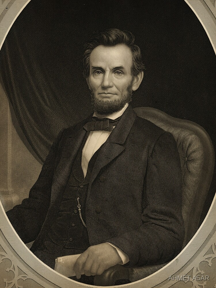 Portrait of Lincoln holding a document in his left hand, facing slightly left by motionage