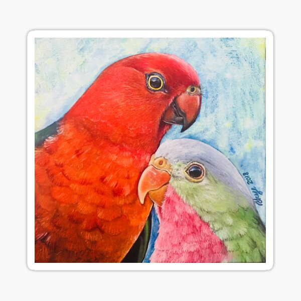 King Parrot and Princess Parrot Sticker