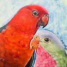 King Parrot & Princess Parrot by Skye Elizabeth  Tranter