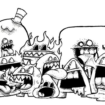 Monster Group Shot (Original Artwork) by Thromgard