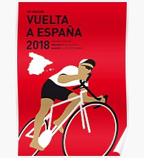 MY VUELTA A ESPANA MINIMAL POSTER 2018 Poster