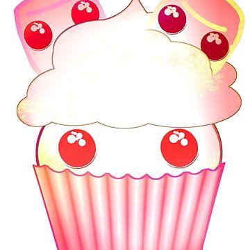Cute Marshmallow cupcake kawaii in harajuku style by M-Lorentsson