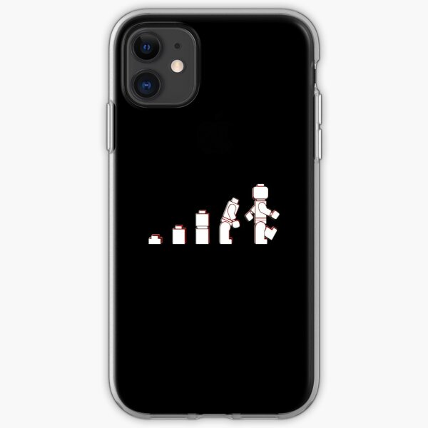 Evolution Of Lego Man iPhone Soft Case