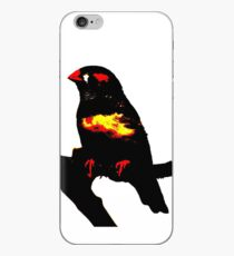 Zebra Finch on a bench iPhone Case