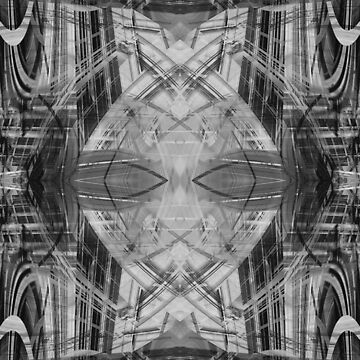 Black and white abstract pattern by steveball