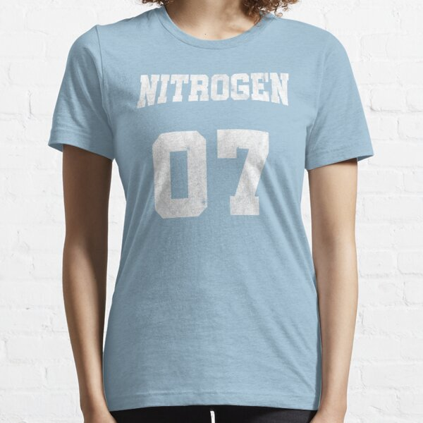Element Nitrogen Chemistry Chemist Tee Shirt Funny Nerd Geek Design Atomic Number Periodic Table of Elements Chemical formula Essential T-Shirt