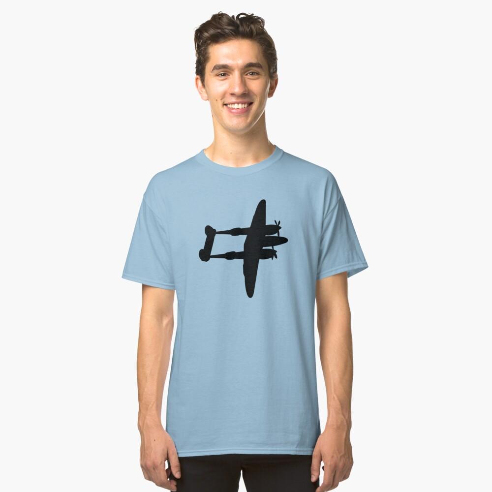 Lockheed P-38 Lightning plane hovers ww2 Classic T-Shirt Front