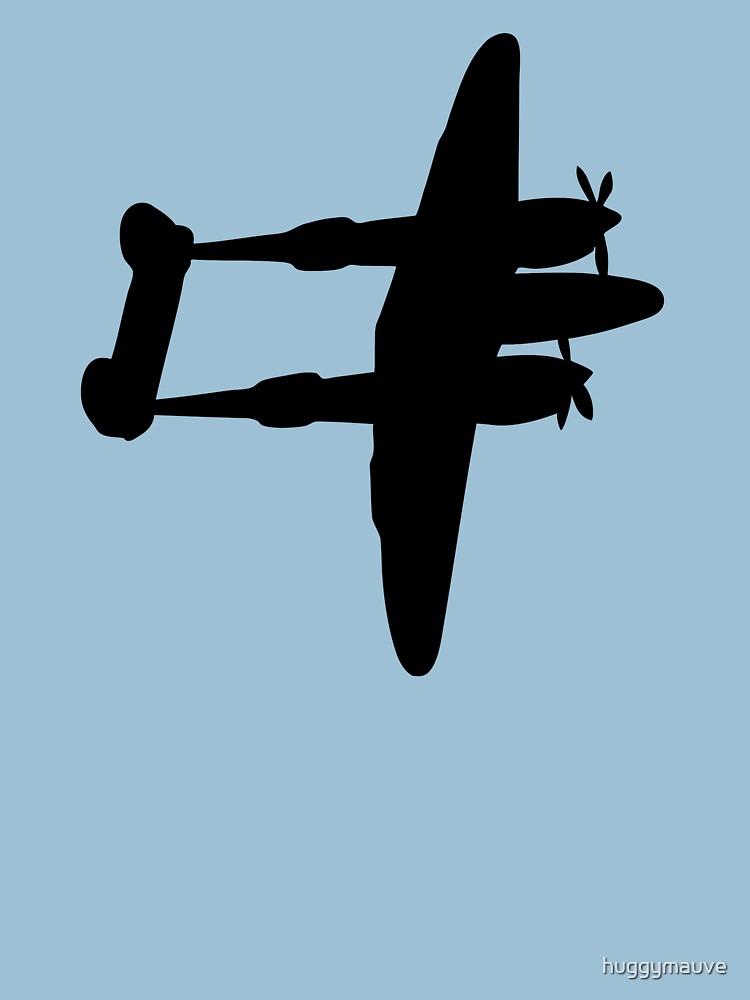 Lockheed P-38 Lightning plane hovers ww2 by huggymauve