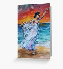 Seascape with Ballerina Greeting Card