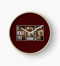 It really tied the room together Clock