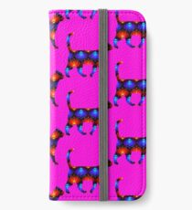 Blue and red spiral cat2 iPhone Wallet/Case/Skin