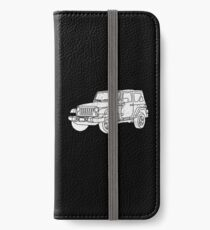 Jeep - White iPhone Wallet/Case/Skin