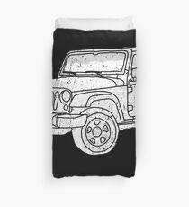 Jeep - White Duvet Cover