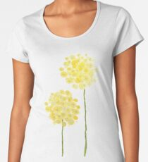 two abstract dandelions watercolor  Women's Premium T-Shirt