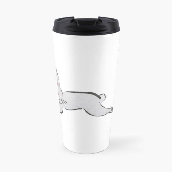 Leaping Asian Bunny Travel Mug