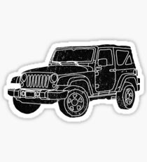 Jeep - Black Sticker
