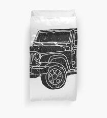 Jeep - Black Duvet Cover
