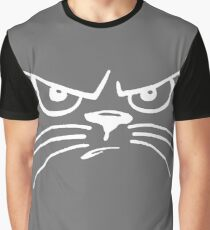 grumpy cat with whiskers Graphic T-Shirt