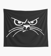 grumpy cat with whiskers Wall Tapestry