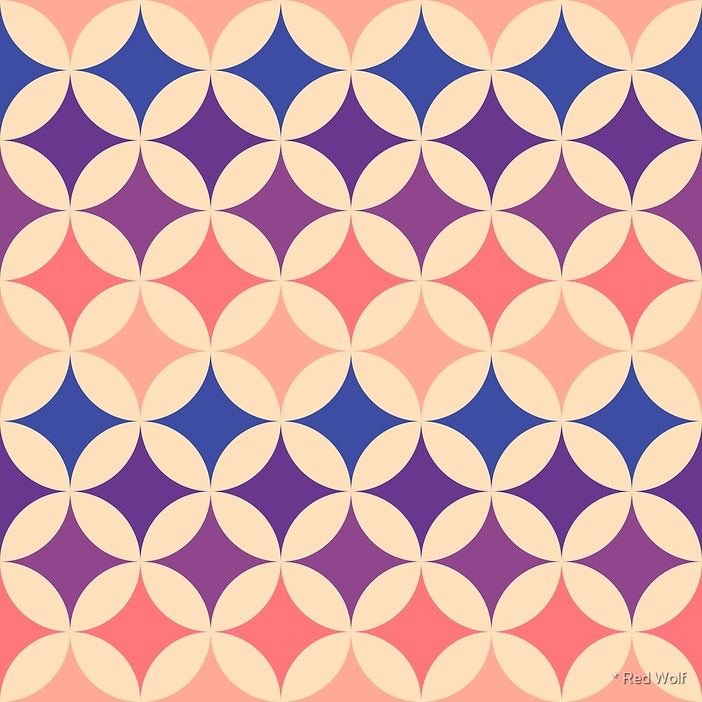 Geometric Pattern: Circle Nested: Festive by * Red Wolf