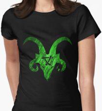 Horned Skaven grün Tailliertes T-Shirt für Frauen
