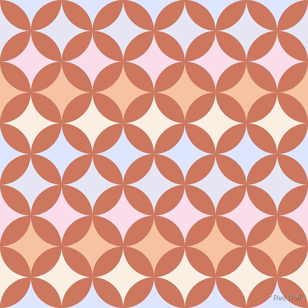 Geometric Pattern: Circle Nested: Terracotta by * Red Wolf