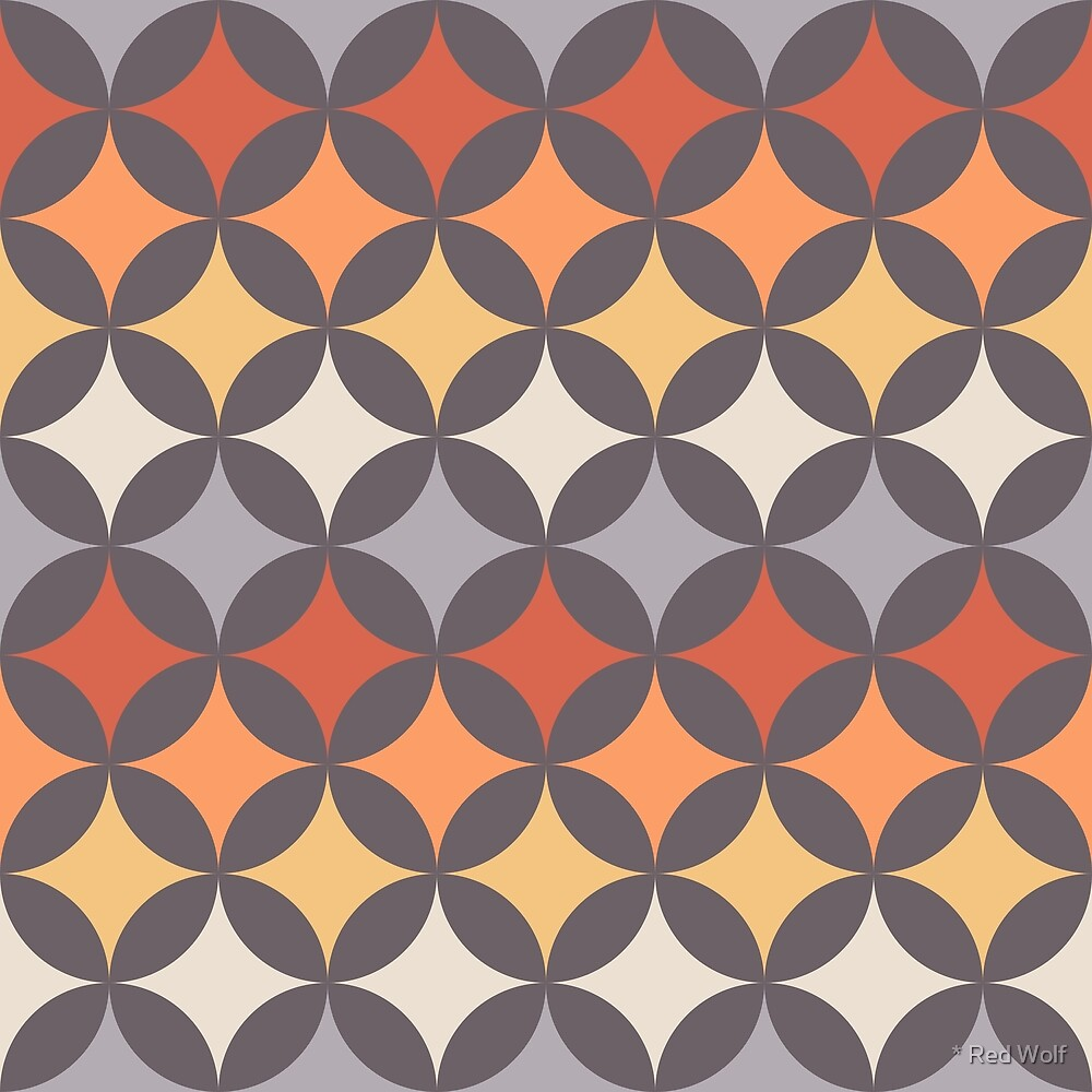 Geometric Pattern: Circle Nested: Sunset by * Red Wolf