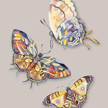 Butterflies Watercolour art by Ruta