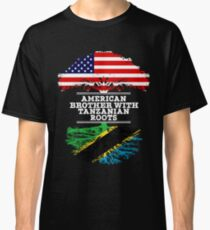 American Brother With Tanzanian Roots - Gift For Tanzanian Brother From Brother Or Sister Classic T-Shirt