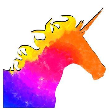 Watercolour Unicorn by apollosale