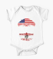 American Sister With Austrian Roots - Gift For Austrian Sister From Brother Or Sister One Piece - Short Sleeve