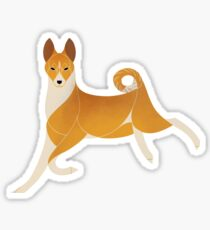 Year of the Dog - Basenji Sticker