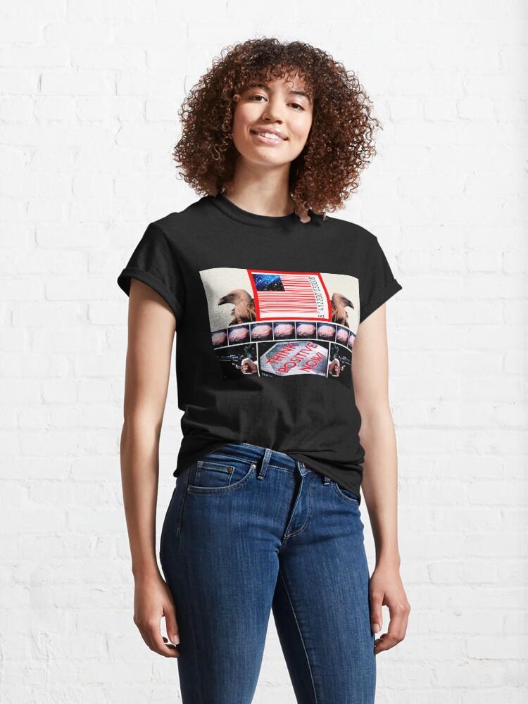 Vista alternativa de Camiseta clásica Think  positive